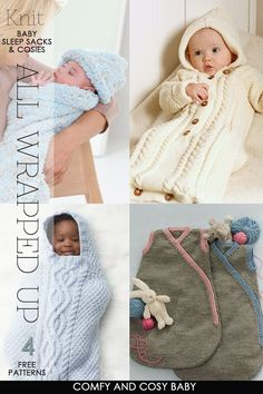Sleep-sacks to knit, crochet and sew to keep baby warm and comfortable - DiaryofaCreativeFanatic