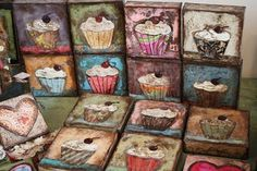 Love the cupcake canvas idea