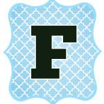 You are here: Home / DIY Crafts and Gifts / Blue and Black Printable Letters for Banners
