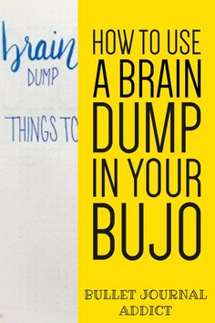 Bullet Journal Setup and Layouts For Brain Dumps - Bullet Journal Page Ideas - Bullet Journal Inspiration and Creative Pages Brain Dump Bullet Journal, Bullet Journal Index, Bullet Journal Quotes, Bullet Journal Tracker, Bullet Journal Spread, Bullet Journal Layout, Bullet Journal Inspiration, Bullet Journals, Journal Pages