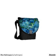 Blue Hydrangea Messenger Bag http://www.zazzle.com/hydrangeas*