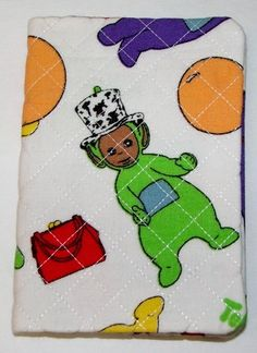 Handcrafted Fabric Mini Notebook....Tellie Tubbies..great little gift