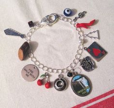 The Great Northern Custom Charm Bracelet by TheHoneyBeeCrafts Custom Charms, Twin Peaks, All Things, My Etsy Shop, Buy And Sell, David Lynch, Charmed, Bracelets, Handmade