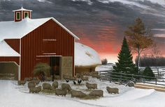 Barnyard in Winter, ca. 1885-1890, Horatio Shaw, oil on canvas, 36 1/4 x 54 1/8 in. (92 x 137.5 cm), Smithsonian American Art Museum, Museum purchase 1975.43