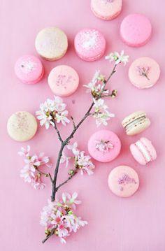 Ton sur ton roze macarons