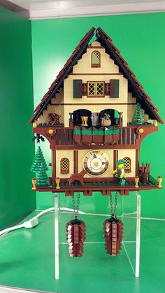 Black Forest Cuckoo Clock Lego Christmas Village, Lego Lamp, Lego Activities, Family Activities, Clock Shop, Lego Store, Lego For Kids, Clock Art, Cool Lego Creations
