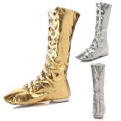 Childs Size 11 Caramel Tan Slip On Split Sole Hip Jazz Boot Shoes NIB !