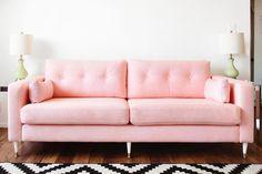 IKEA HACK: KARLSTAD Pink Mid-Century Inspired Sofa Makeover – Melodrama