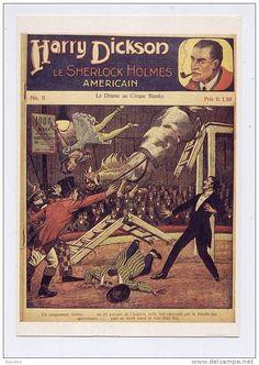 CPM HARRY DICKSON Le Sherlock Homes Américain Dessin d´ALFRED ROLOFF - Delcampe.net