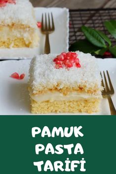 Pamuk Pasta Vanilla Cake, Desserts, Noel, Tailgate Desserts, Deserts, Dessert, Food Deserts