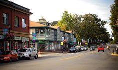 Downtown Oak Bay, South Vancouver Island, BC.