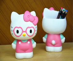 hello kitty  Desk Accessories for Women | Free shipping 2014 New cute cartoon hello kitty pen organizer pen ...