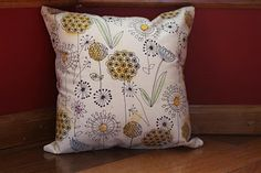 Design traced on to fabric with a sharpie pen, tinted and then make up in to a cushion :-)