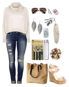 cute fall/winter outfit featuring Mavi, River Island, Giuseppe Zanotti, Topman, Jordan Carlyle, FRUIT, Ray-Ban and Bobbi Brown Cosmetics