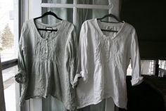 Sommer gewaschen Leinen Michèle Shirt / von BreatheAgainClothing, $150.00