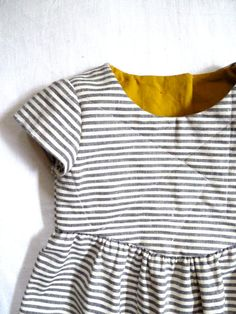 Striped Organic Cotton and Hemp Quilted Dress by HarrietsHaberdashery on Etsy