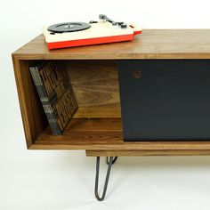 Vinyl-Log cabinets for vinyl records! Introducing the Alden.
