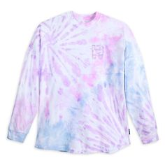 Flash back to fun times at Walt Disney World whenever you wish in this fanciful Spirit Jersey with pastel tie-dye fabric, glittering puff ink logo and ''D'' icon.