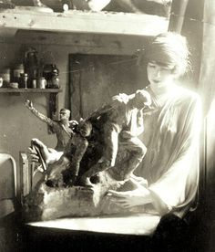 The Artist Working on a War Piece (Quite a Change from the Society Lady, No?) - Gertrude Vanderbilt Whitney and the Great War.