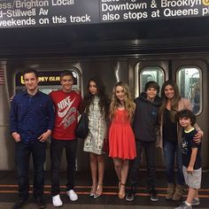 "Photo: August Maturo With His Whole ""Girl Meets World"" Cast In New York City June 22, 2014"