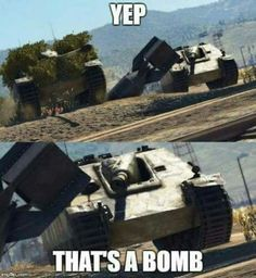 """Playing war thunder be like """"well, I guess we're screwed. Funny Gaming Memes, Gamer Humor, Crazy Funny Memes, Really Funny Memes, Stupid Funny Memes, Funny Laugh, Funny Relatable Memes, Military Jokes, Army Humor"""