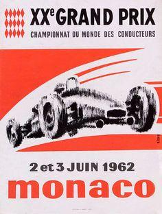 1962 Monaco Grand Prix poster