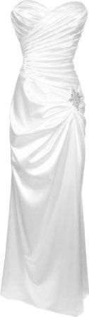 $85.99 Amazon.com: Strapless Long Satin Bandage Gown Formal Crystal Pin