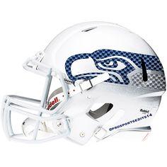 Seattle Seahawks white helmet #Seattle #Seahawks #SeattleSeahawks #RichardSherman #RussellWilson #MarshawnLynch #12thMan #SeattleWashington #NFL #Playoffs