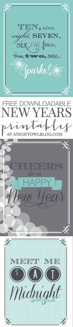 FREE Downloadable New Years Eve Printables at http://anightowlblog.com!