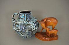 Atemberaubende Vintage Vase/Krug / ES Keramik (Emons & Söhne) / Dekor Alaska / Modell 821 14 | West Germany | WGP | 70er von ShabbRockRepublic auf Etsy