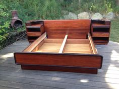 Best Mid Century Danish Modern Teak Bed With Floating 640 x 480