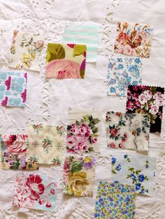 Vintage Fabrics Swatches Styling by from Homespun Style Book * Photography by Debi Treloar Vintage Fabrics, Vintage Sewing, Romantic Cottage, Vintage Interiors, Textiles, Easter Crafts, Easter Ideas, Fabric Samples, Fashion Books
