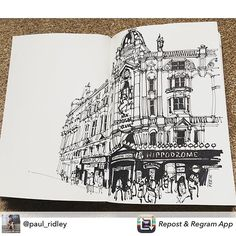 Repost from @paul_ridley What an amazing building.@HippodromeLDN #urbansketchers