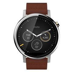 Motorola Moto 360 (2ª generación) 46mm Hombres de Smart Watch - Silver + café