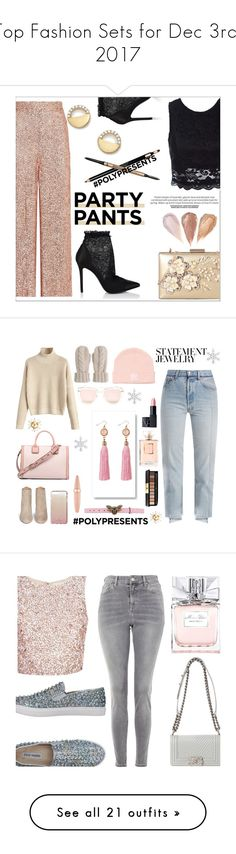 """""""Top Fashion Sets for Dec 3rd, 2017"""" by polyvore ❤ liked on Polyvore featuring Temperley London, Bloomingdale's, Sans Souci, Stella Luna, Rimen & Co., Clarins, It Cosmetics, contestentry, polyPresents and Vetements"""