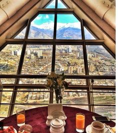 The view from the restaurant in Milad Tower, Tehran ,Iran Iran Travel, China Travel, Historical Pictures, Historical Sites, Sri Lanka, Iran Today, Brunei, Native Country, Tehran Iran