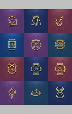 Free Time Icon Set... Very useful for a website or an mobile app.