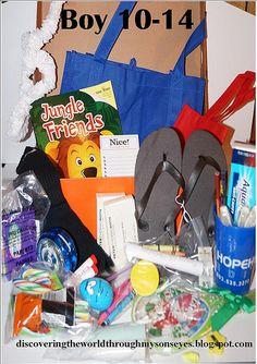 Shoe box ideas for boys 10-14  OCC Shoe boxes 2012