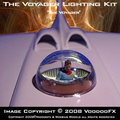 The Voyager Lighting Kit is designed to fit the Moebius Models model kit Voyager. Comes with everting you need to bring this model to life. Set up to light the main flight deck, engines & cockpit bubble. Sci Fi Tv Shows, Fantastic Voyage, Flight Deck, Classic Toys, Small World, Scale Models, Bubbles, Kit, Lights