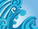 Vector: Tsunami Wave Effect