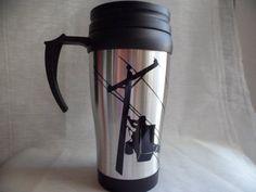 Lineman Travel mug by VintageLover818 on Etsy, $8.00