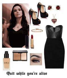 """Inspired by Rose Hathaway from Vampire Academy"" by hannalaird26 ❤ liked on Polyvore featuring beauty, Mason by Michelle Mason, Christian Louboutin, David Yurman, Hoorsenbuhs and Chanel"