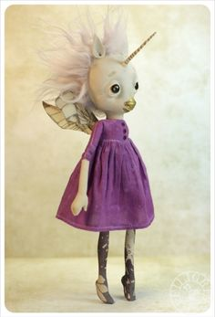 Little cute unicorn loves purple too!
