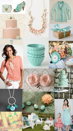 Paper Doll Romance: Color Day: Peach and Seafoam