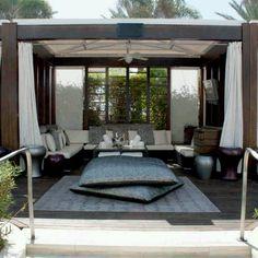 Backyard living space.