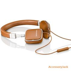Harman Kardon Soho-I Slim Foldable On-Ear Mini Headphones for iOS (Brown) - AccessoryJack