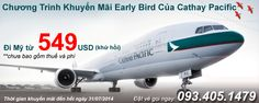 Dat ve may bay gia re , Vé máy bay giá rẻ VLINK: Chương Trình Khuyến Mãi Early Bird Của Cathay Paci...