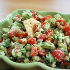 Avocado, Tomato & Feta Cheese Dip... Made this for two cookouts this summer and it was a big hit :). So yummy!