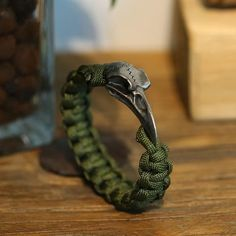 Image of Magpie Paracord Bracelet Braided Bracelets, Bracelets For Men, Fashion Bracelets, Fashion Rings, Fashion Men, Rock Fashion, Leather Bracelets, Silver Bracelets, Silver Rings
