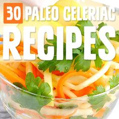 30 Paleo Celeriac Recipes (a.a Celery Root) Paleo Recipes Easy, Real Food Recipes, Diet Recipes, Salad Recipes, Whole30 Recipes, Paleo Meal Plan, Paleo Diet, Eating Paleo, Ketogenic Diet